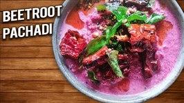 Beetroot Pachadi - How To Make Beetroot Raita - Onam Special - Kerala Style Beetroot Raita - Varun