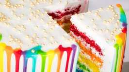 Rainbow Cake In Cooker / No Egg - No Oven Cake / Eggless Baking Without Oven
