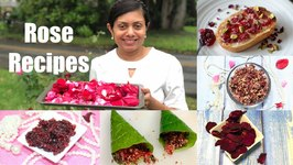 Rose Recipes Instant Gulkand Jam / Dry Petals Without Sun Video Recipe