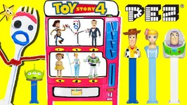 Toy Story 4 PEZ CANDY MACHINE GAME w/ 2019 PEZ Dispensers & Surprise Toys