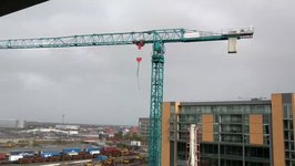 Cranes Blow in the Wind as Ex-Hurricane Ophelia Moves Across Ireland