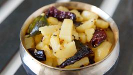 Batata Upkari Recipe In Marathi - Karnataka Style Simple Potato Bhaji - Smita