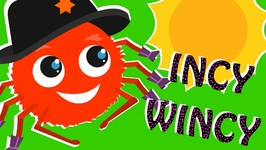 Incy Wincy Spider - Nursery Rhyme - Red Spider