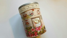 UGLY COFFEE CAN UPCYCLE  MOD PODGE CRAFTS