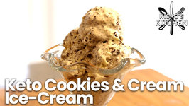 Keto Cookies And Cream Ice-Cream / Keto Low Carb Dessert