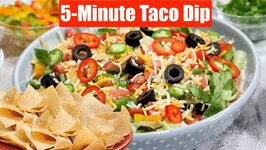5-Minute Taco Dip Make-ahead - Seasoning And Festive Salsa