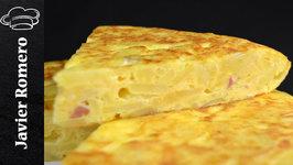 Como hacer tortilla de patatas con beicon y queso