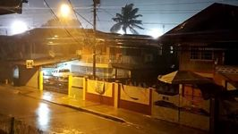Tropical Storm Bret Drenches Neighborhood in Trinidad
