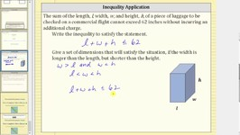 Write and Solve an Inequality to Represent a Situation: Luggage Dimensions