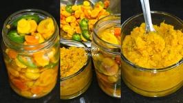 Tonic Pili And Amba Haldi Achar Chutney -Fresh Turmeric Pickle