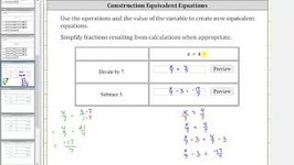 Determine Equivalent Equations Given x  a (2 Operations)