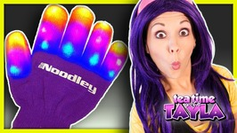 Learn Colors with Lights- Colors for Children to Learn -Pajamas Song with Light Up Gloves for Kids