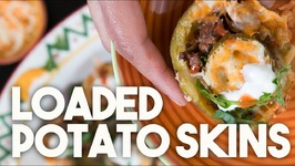 Loaded POTATO SKINS - MEXIskins - TexMex Crispy Meat Filled Skins