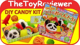Kracie Popin Cookin Bento Box DIY Candy Kit Japanese Food Unboxing Toy Review