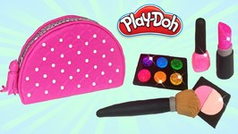 Play Doh Make Up Cosemtics Set Making Diy For Kids How To Make Makeup Bag