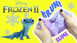 Disney Frozen 2 Bruni and Elsa DIY Slime Making