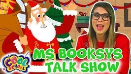 Ms Booksy's Talk Show - Interviewing SANTA - Cartoons for Kids - Christmas Cartoons