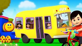 Wheels On The Bus - Kindergarten Nursery Rhymes For Kids By Bob The Train Part Fourth