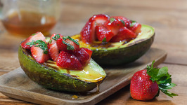 Grilled Avocado With Strawberry And Honey