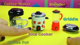 5 DIY Miniature Kitchen & Home Appliances - Easy doll Crafts