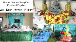 How to Host a DisneyKids Preschool Playdate - Moana Party