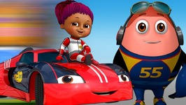 Learn Colours with Race Cars and Surprise Eggs Car Toys - ChuChu TV Funzone 3D Motorsports