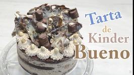 Tarta Kinder Bueno en Español - Torta Kinder Bueno - Receta Tarta de Kinder - Barritas Kinder Bueno