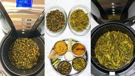 Air Fryer Sabjis Shaak Bhindi - Okra -Parval  -Ponted Gourd Video Recipe