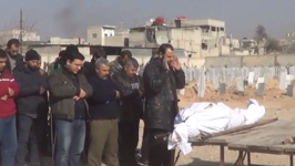 Funeral Held for Victim of East Ghouta Airstrikes
