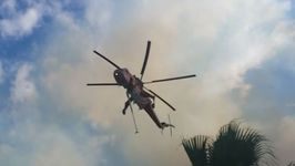Helicopters Battle Wildfires Northeast of Athens
