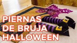 Cómo hacer unas piernas de bruja para decorar la casa en Halloween  Manualidades infantiles