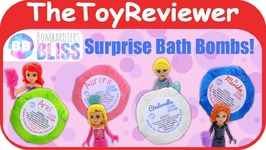 Fizzie Bath Bomb Surprise Lego Toys Bombardiers Bliss Disney Unboxing Toy Review