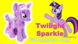 DIY Custom Twilight Sparkle My Little Pony Art Project 3D Acrylic Pour