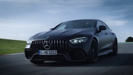 The All New Mercedes-AMG GT 63 S 4MATIC  4-Door Coupe on the Race track