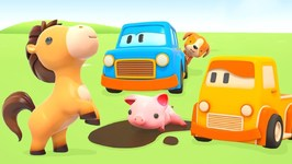 Clever Cars Learn Animal Names and Sounds- Car Cartoons for Toddlers