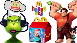 THE GRINCH Gets a Job  McDonalds RALPH BREAKS THE INTERNET Happy Meal Surprise Toys