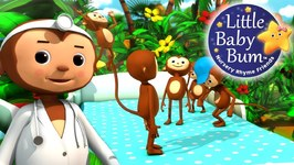 Five Little Monkeys Jumping On The Bed - Part 2 - Nursery Rhymes