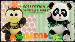 Introducing Animoodles Meet Jada Panda and Sweetie Bee, adorable, magnetic plushies