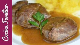 Carrilleras de cerdo con salsa de Pedro Ximenez y puré de manzana