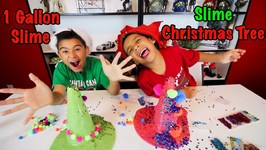 1 GALLON CHRISTMAS SLIME and SLIME CHRISTMAS TREE DECORATING