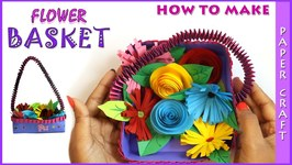 Learn to make flower basket diy flower basket paper craft video by learn to make flower basket diy flow mightylinksfo