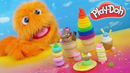 Funny & Cute Rainbow Play Doh Ice cream cones clay lol surprise playset playdough by Fuzzy Puppet