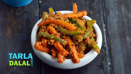Quick Carrot And Capsicum Pickle