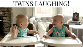 June Laughing at Violet - 6 Month Twin Girls