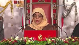 Halmiah Yacob Inaugurated as First Female President of Singapore