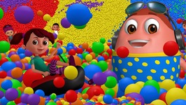 Learn Colours, Alphabets & Numbers - Surprise Eggs Ball Pit Show for Kids - ChuChu TV Funzone 3D