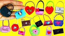 20 DIY Barbie Doll Miniature Purse Handbag Bag - 20 Different Styles Each In Under 1 Minute