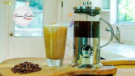 How To Make A Chocolate Vanilla Cream Cold Brew Iced Coffee With A French Press