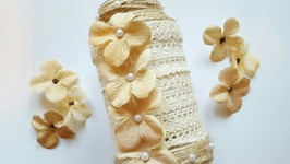 UPCYCLED JAR  RUSTIC & SHABBY CHIC  DIY DOLLAR TREE CRAFTS