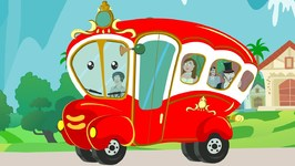 Wheels On The Bus - Kindergarten Nursery Rhymes For Children - Cartoons For Toddlers